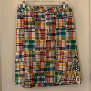 Cotton plaid skirt from Talbots